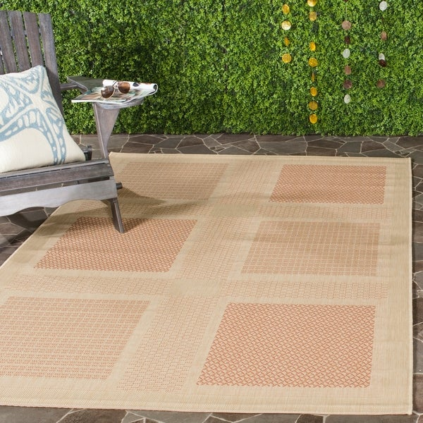 Safavieh Lakeview Natural/ Terracotta Indoor/ Outdoor Rug - 8' X 11'