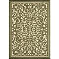 Safavieh Resorts Scrollwork Olive Green/ Natural Indoor/ Outdoor Rug - 8'11 x 12'