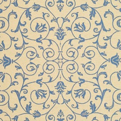 Safavieh Indoor/ Outdoor Resorts Natural/ Blue Rug (8' x 11')