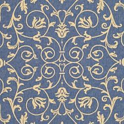 Safavieh Resorts Scrollwork Blue/ Natural Indoor/ Outdoor Rug (2'7 x 5') - Thumbnail 2