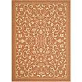 Safavieh Resorts Scrollwork Terracotta/ Natural Indoor/ Outdoor Rug (9' x 12')