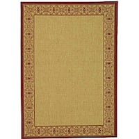 Safavieh Oceanview Natural/ Red Indoor/ Outdoor Rug - 9' x 12'
