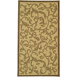 Safavieh Mayaguana Natural/ Brown Indoor/ Outdoor Rug (2'7 x 5')
