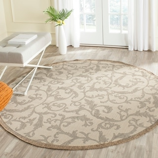 Safavieh Mayaguana Natural/ Brown Indoor/ Outdoor Rug (5'3 Round)