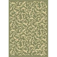 Safavieh Mayaguana Olive Green/ Natural Indoor/ Outdoor Rug - 2'7 x 5'