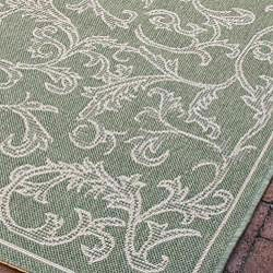 Safavieh Mayaguana Olive Green/ Natural Indoor/ Outdoor Rug (8' x 11') - Thumbnail 2