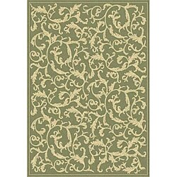 Safavieh Mayaguana Olive Green/ Natural Indoor/ Outdoor Rug (8' x 11')