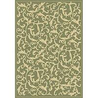Safavieh Mayaguana Olive Green/ Natural Indoor/ Outdoor Rug - 7'10 x 11'
