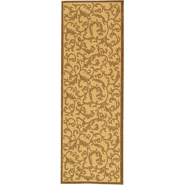 Safavieh Indoor/ Outdoor Mayaguana Natural/ Brown Runner (2'4 x 6'7)