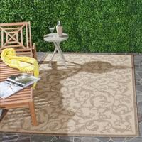 Safavieh Mayaguana Natural/ Brown Indoor/ Outdoor Rug - 4' x 5'7