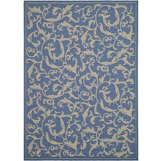 Safavieh Mayaguana Blue/ Natural Indoor/ Outdoor Rug (2'7 x 5')