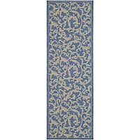"Safavieh Mayaguana Blue/ Natural Indoor/ Outdoor Runner (2'4 x 6'7) - 2'4"" x 6'7"""