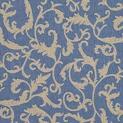 Safavieh Mayaguana Blue/ Natural Indoor/ Outdoor Rug (8' x 11') - Thumbnail 2