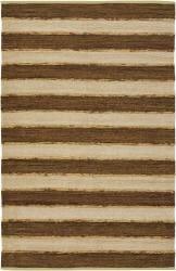 Artist's Loom Handmade Flatweave Casual Stripes Rug (5' x 7'6) - Thumbnail 1