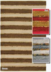 Artist's Loom Handmade Flatweave Casual Stripes Rug (5' x 7'6) - Thumbnail 2