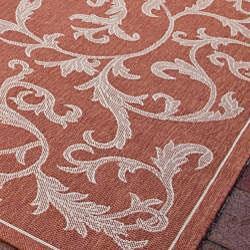 Safavieh Mayaguana Terracotta/ Natural Indoor/ Outdoor Rug (5'3 x 7'7) - Thumbnail 2
