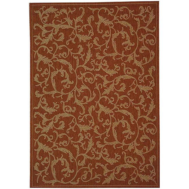 Safavieh Mayaguana Terracotta/ Natural Indoor/ Outdoor Rug - 9' x 12'