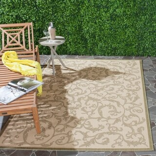 Safavieh Mayaguana Black/ Sand Indoor/ Outdoor Rug - 4' x 5'-7""