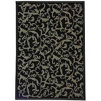 Safavieh Mayaguana Black/ Sand Indoor/ Outdoor Rug - 8' x 11'