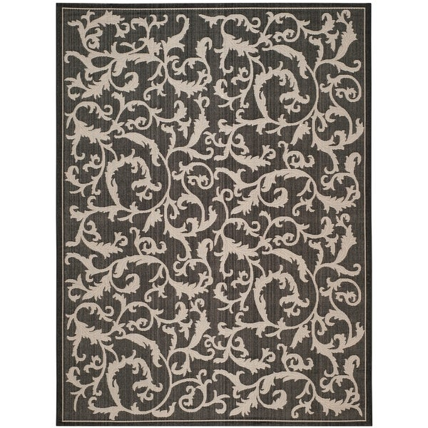 Safavieh Mayaguana Black/ Sand Indoor/ Outdoor Rug - 9' x 12'