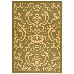 Safavieh Bimini Damask Olive Green/ Natural Indoor/ Outdoor Rug (2'7 x 5') - 2'7 x 5' - Thumbnail 0