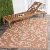 Safavieh Bimini Damask Terracotta/ Natural Indoor/ Outdoor Rug - 9' x 12'