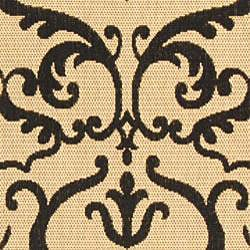 Safavieh Bimini Damask Sand/ Black Indoor/ Outdoor Rug (8' x 11') - Thumbnail 2