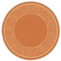 "Safavieh Paradise Terracotta/ Natural Indoor/ Outdoor Rug - 6'7"" x 6'7"" round"