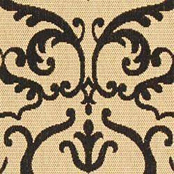 Safavieh Bimini Damask Sand/ Black Indoor/ Outdoor Rug (5'3 x 7'7) - Thumbnail 2