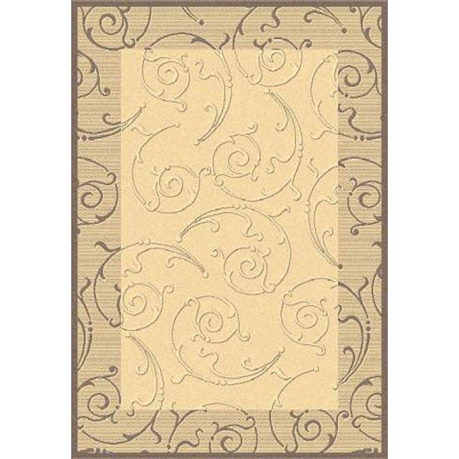 Safavieh Oasis Scrollwork Natural Brown Indoor Outdoor Rug 8 X27 11