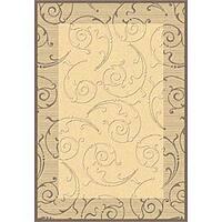 Safavieh Oasis Scrollwork Natural/ Brown Indoor/ Outdoor Rug - 8'11 x 12'