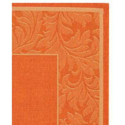 Safavieh Indoor/ Outdoor Paradise Terracotta/ Natural Rug (2'7 x 5')