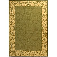 "Safavieh Kaii Damask Olive Green/ Natural Indoor/ Outdoor Rug (2'7 x 5') - 2'7"" x 5'"