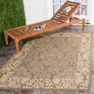 Safavieh Kaii Damask Brown/ Natural Indoor/ Outdoor Rug (5'3 x 7'7)