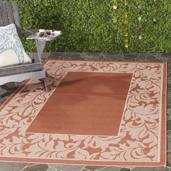 Safavieh Paradise Terracotta/ Natural Indoor/ Outdoor Rug (8' x 11')