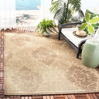 Safavieh St. Barts Damask Natural/ Brown Indoor/ Outdoor Rug - 8' X 11'