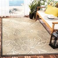 Safavieh Aruba Sand/ Black Indoor/ Outdoor Rug (9' x 12')