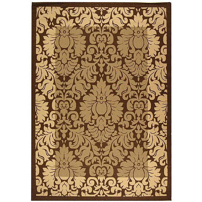 Safavieh Kaii Damask Brown/ Natural Indoor/ Outdoor Rug - 2'7 x 5'