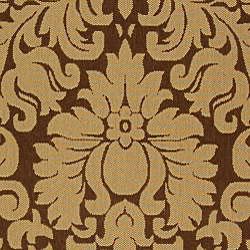 Safavieh Kaii Damask Brown/ Natural Indoor/ Outdoor Rug (2'7 x 5') - Thumbnail 2