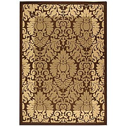 Safavieh Kaii Damask Brown/ Natural Indoor/ Outdoor Rug - 2'7 x 5' - Thumbnail 0