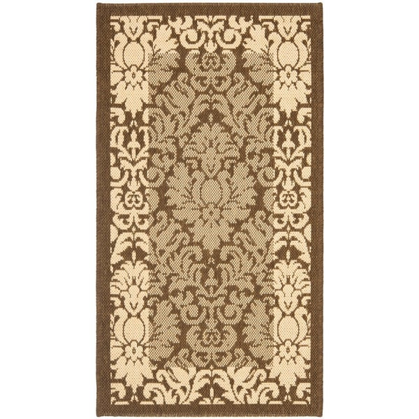 "Safavieh Kaii Damask Brown/ Natural Indoor/ Outdoor Rug - 2'-7"" x 5'"