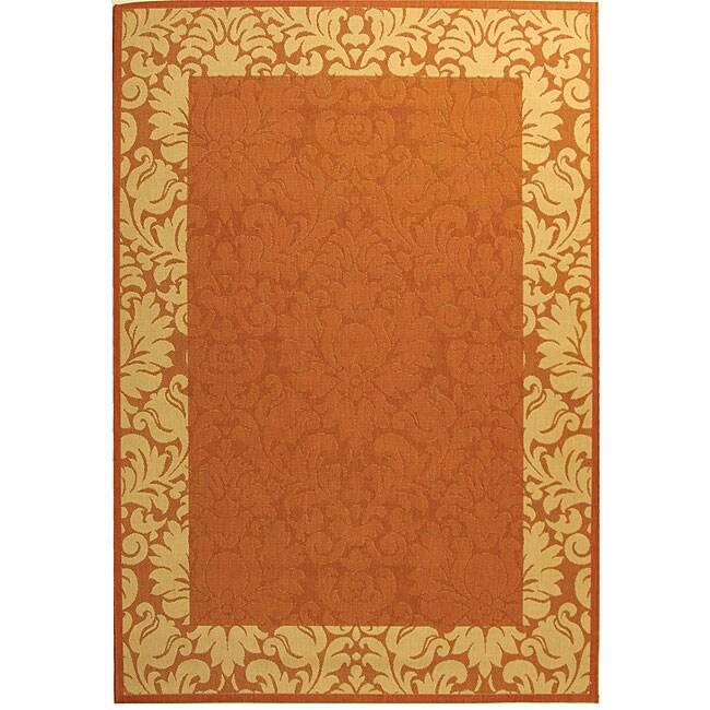 Safavieh Indoor/ Outdoor Kaii Terracotta/ Natural Rug (2'7 x 5')