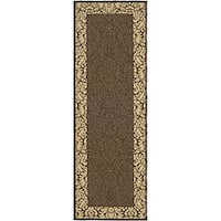 "Safavieh Kaii Damask Chocolate/ Natural Indoor/ Outdoor Runner - 2'4"" x 6'7"""