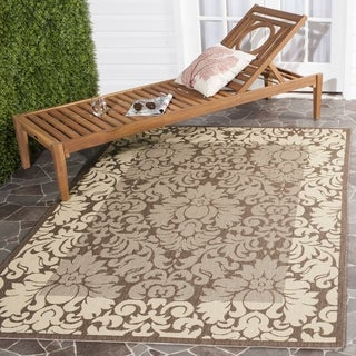 Safavieh Kaii Damask Chocolate/ Natural Indoor/ Outdoor Rug (4' x 5'7)