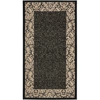 "Safavieh Kaii Damask Black/ Sand Indoor/ Outdoor Rug - 2'-7"" x 5'"