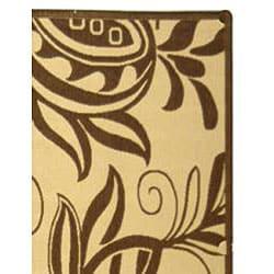 Safavieh Andros Natural/ Brown Indoor/ Outdoor Rug (9' x 12') - Thumbnail 1