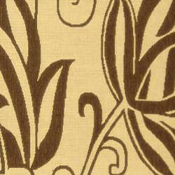 Safavieh Andros Natural/ Brown Indoor/ Outdoor Rug (9' x 12') - Thumbnail 2