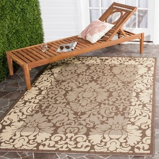 Safavieh Kaii Damask Chocolate/ Natural Indoor/ Outdoor Rug (6'7 x 9'6)