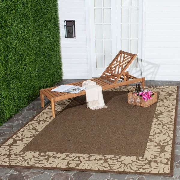 Safavieh Kaii Damask Chocolate/ Natural Indoor/ Outdoor Rug - 8' x 11'
