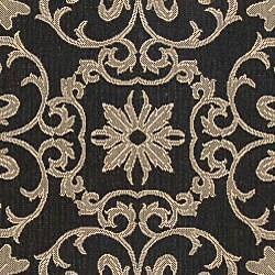 Safavieh Indoor/ Outdoor Sunny Black/ Sand Rug (9' x 12')